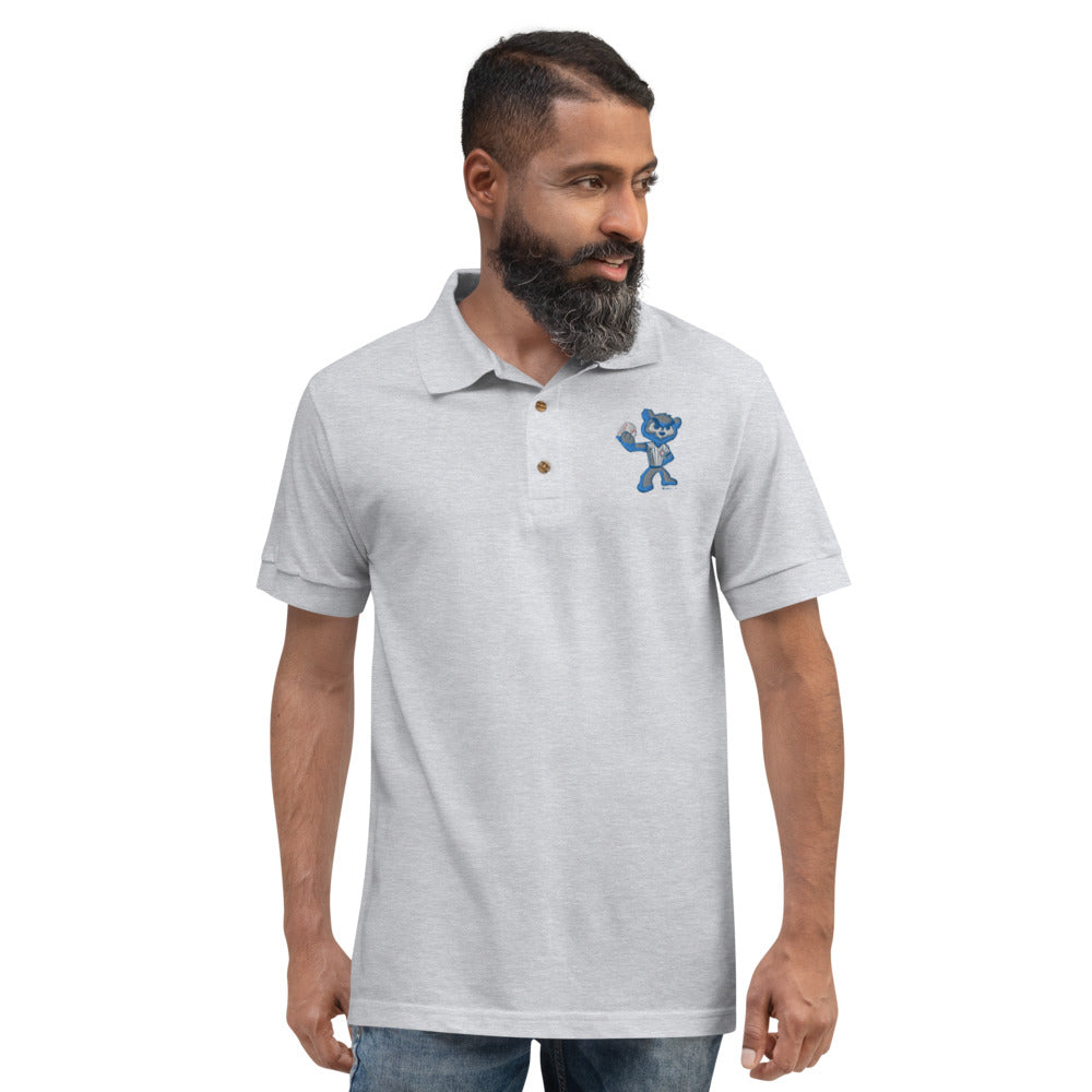 Hack Embroidered Polo Shirt