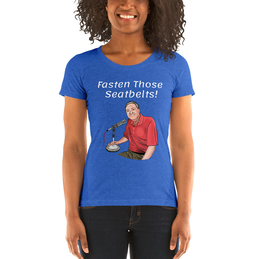 Fasten Those Seatbelts Pat Hughes Tri-Blend Short Sleeve T-Shirt