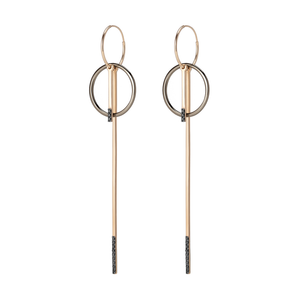 Linear Border Hoop Earring - Gillian Steinhardt Jewelry