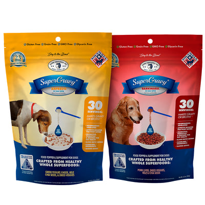 SuperGravy® Doubles ARFredo™ and BARKinara™ (60 Total Servings, 30 Servings Each)