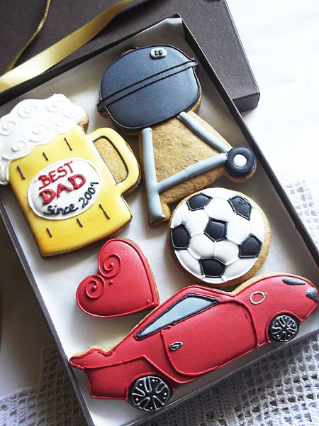 Personalised BEST DAD Cookie Gift Box