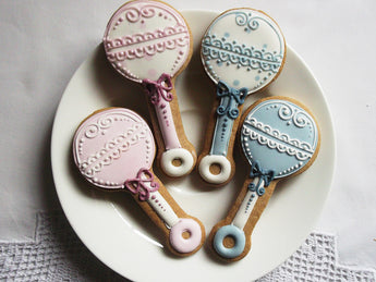 10 Rattle Baby Shower Cookies