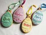 Personalised Easter Egg Hanging Cookie