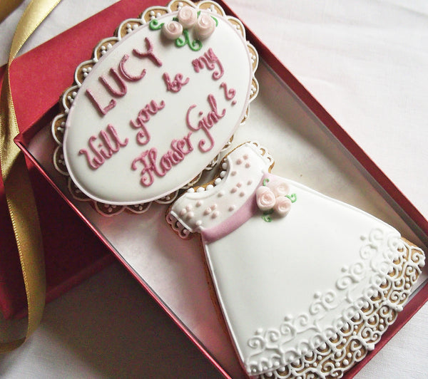 Personalised Will you be my Flower Girl Cookie Gift Box