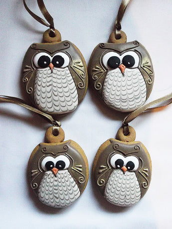 Owl Family Cookie hanging decorations