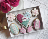 Quilt Style Mothers Day Biscuit Gift Box