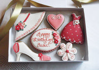 Personalised Shoe/Hat/ Dress Biscuit Gift Box
