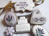 Personalised Birthday Cookie Gift Box in Lavender