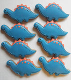 10 Cute Dinosaur Biscuits - Children Party Favour