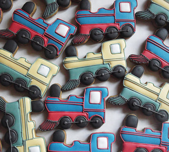 10 Train Cookies - Children Party Biscuits