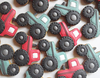 10 Tractor Cookies / Childrens Party favours