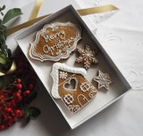 Classic Gingerbread Christmas Biscuit Gift Box
