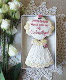 Personalised Would you be my Godmother Biscuit gift box