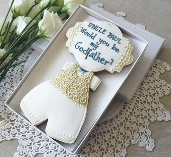 Personalised Would you be my Godfather Biscuit gift box