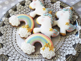 Unicorn and Rainbow Cookies / 10 biscuits