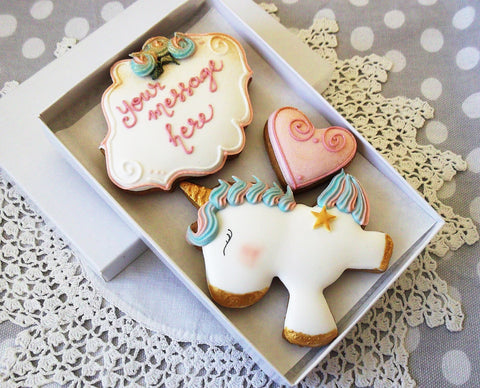 Personalised Unicorn Biscuit Gift box