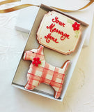 Personalised Scottie Cookie Gift Box / Gift for Dog Lovers