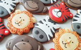 Cute Zoo Animal Cookies / 10 cookies