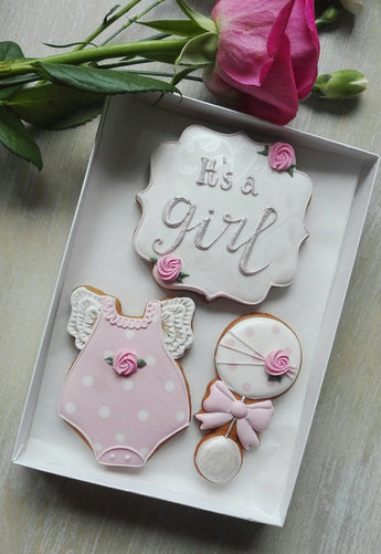 It`s a girl newborn baby gift box