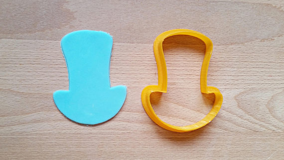 Mad Hatters Hat Cookie Cutter
