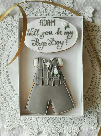 Personalised Will you be my Page Boy / Ring Bearer Cookie Gift Box