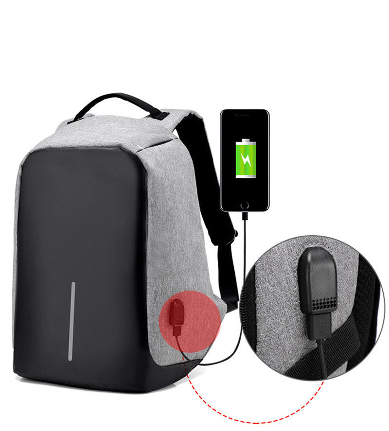 Unisex Anti-theft Backpack with USB charger