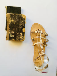 Snake Leather Capri Sandals