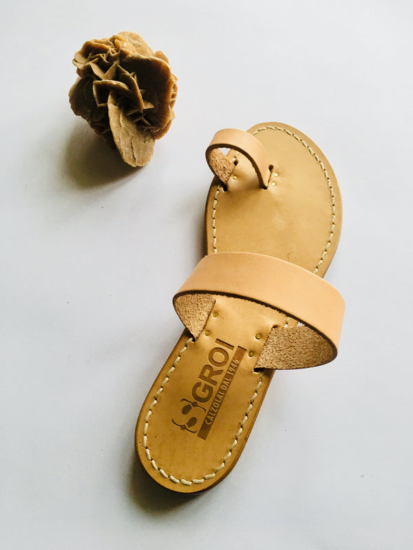 Leather Band Capri Sandals