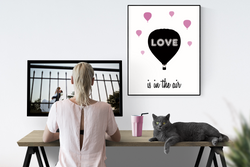 Love is in the Air - Digital Poster