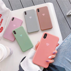 Love(ly) iPhone case in soft colours