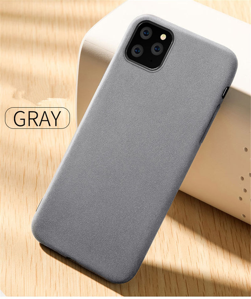 Ultra-Thin Sandstone Matte Case For iPhone 11