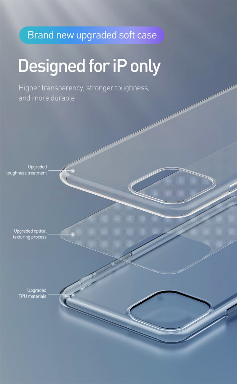 Luxury Transparent Soft Case For iPhone