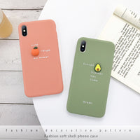 Fruit Design Cases for iPhone 6, iPhone 7, iPhone 8, iPhone X and iPhone 11