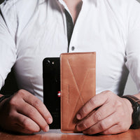 Leather & Wool Felt Smartphone Case for iPhone