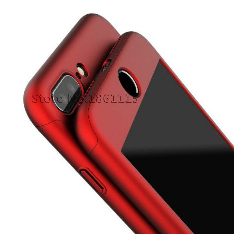 360 Degree Full Cover Phone Case For iPhone  With Tempered Glass