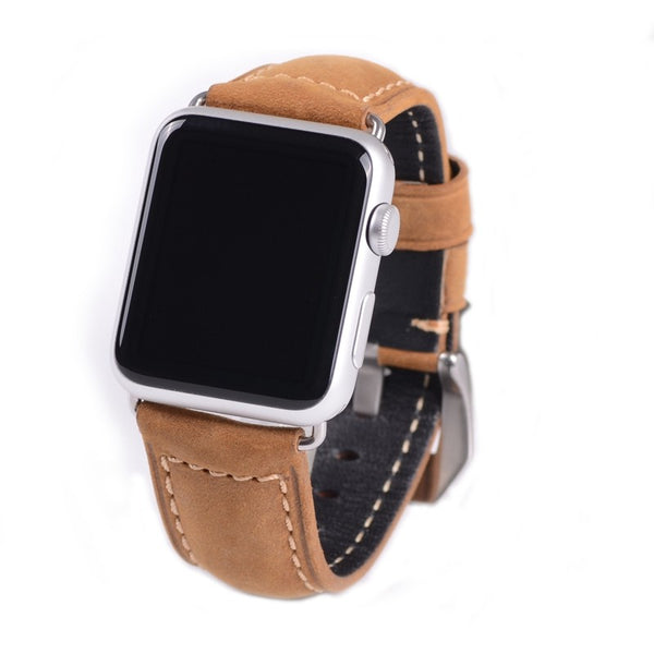 Light Brown Leather Watch Band for iWatch
