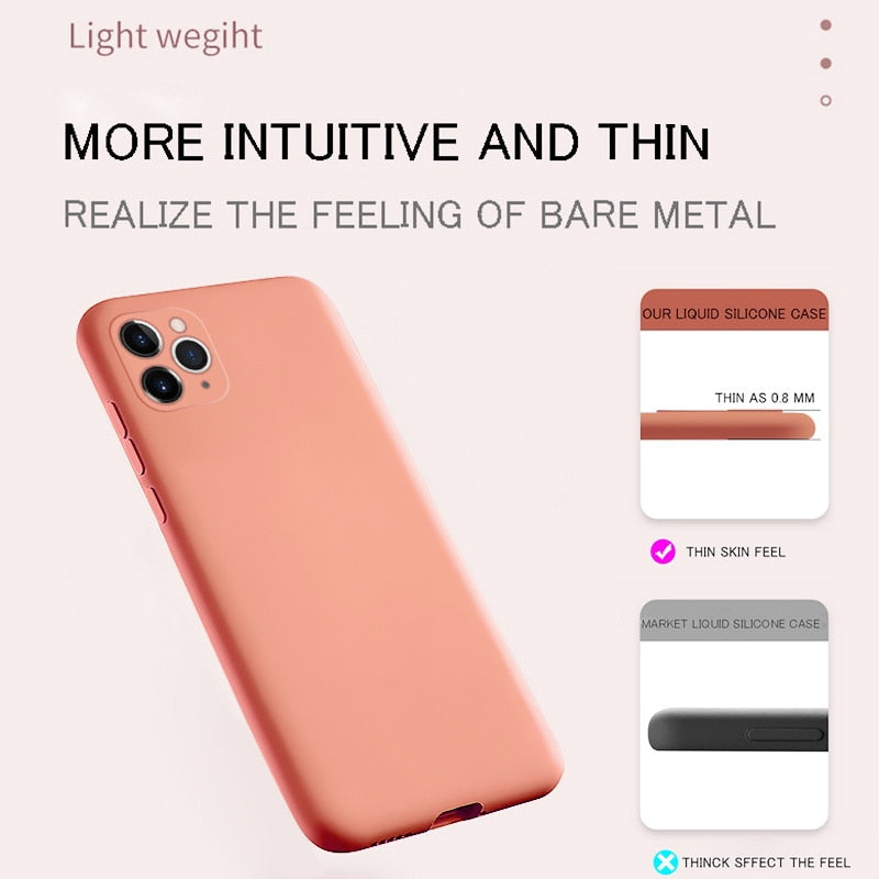 Luxury Silicone Full Protection Case For iPhone 6, 7, 8, iPhone X, XR, XS, XS Max