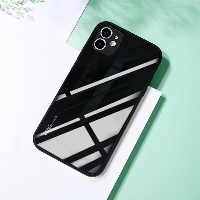 New luxury tempered glass iPhone case
