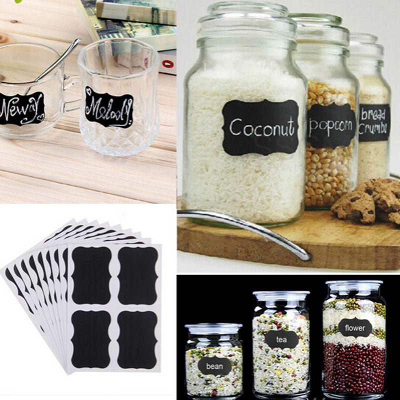 Blackboard Sticky Jar Labels
