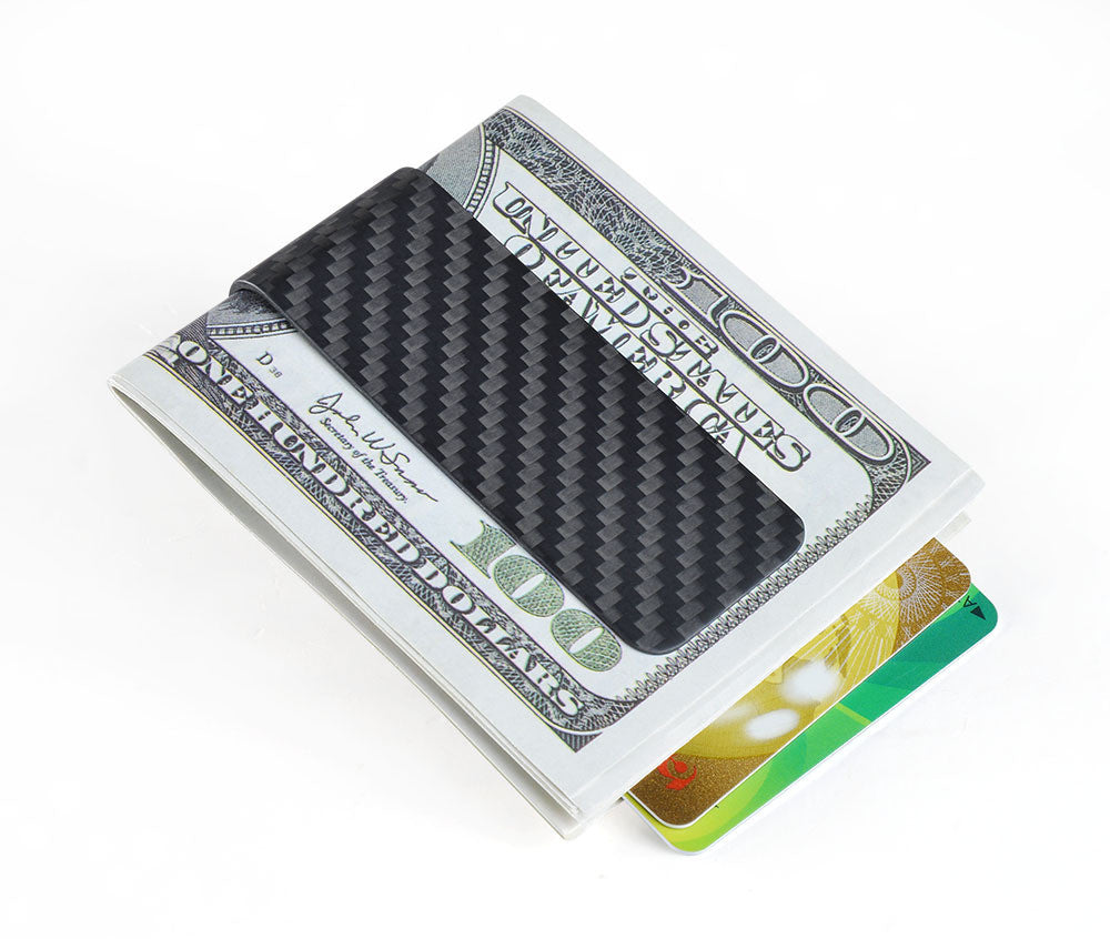 Carbon Fiber Money Clip - Cool Gift for Men