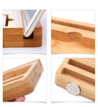 Bamboo Tablet and Smartphone Dock
