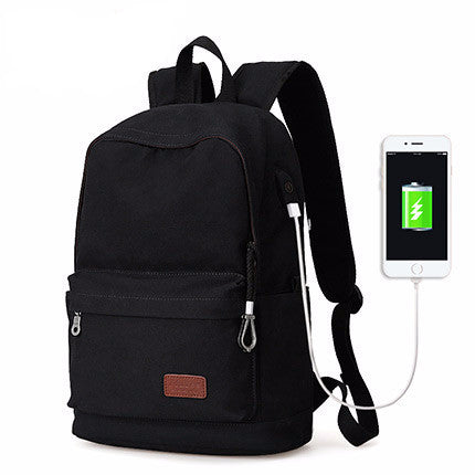 Casual Teenager Backpack With External USB Charge