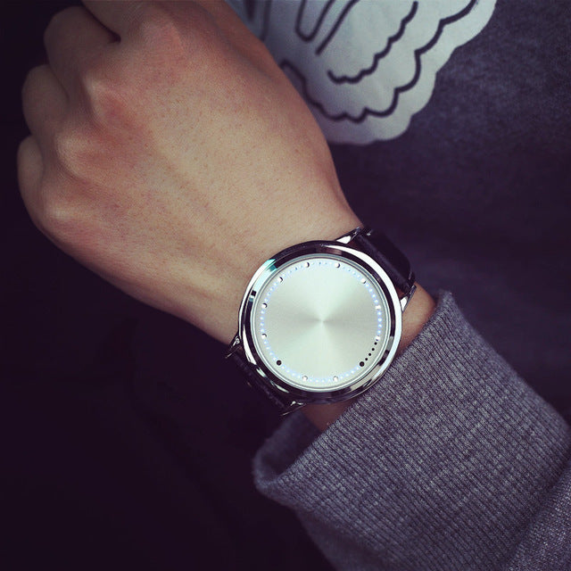 Elegant Unisex Watch with Leather Band