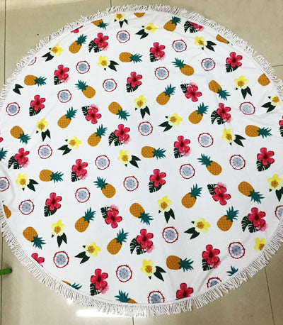 Summer Microfiber Round Beach Towel