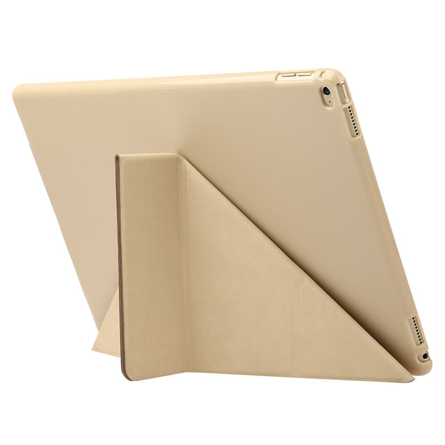 Slim Foldable Leather Case for iPad Pro 12.9 inch with Kickstand