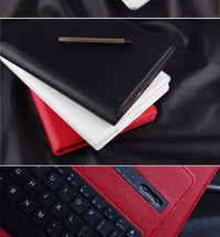 2-in-1 iPad PU Leather Case with Wireless Keyboard