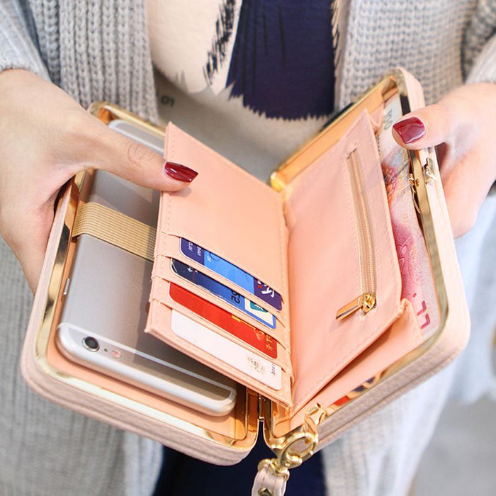 Luxury PU Leather Purse- Smartphone Case for Women