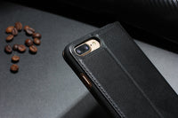 Luxury Genuine Leather iPhone 7/ 7 Plus/ 8/ 8 Plus Flip Case