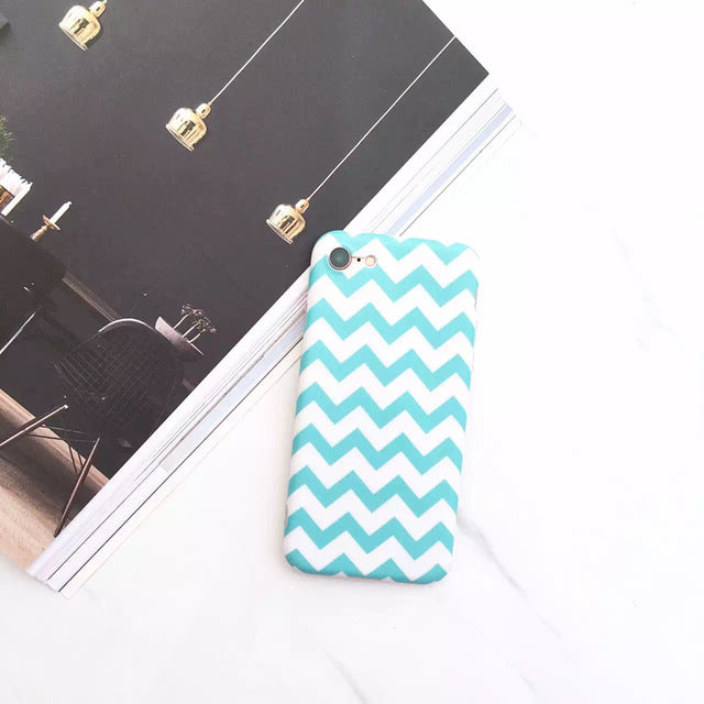Pink-Blue iPhone Case with Finger Ring