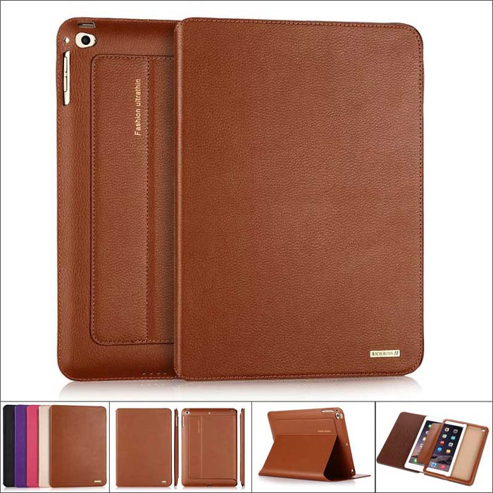 Ultrathin Genuine Leather Case for Apple iPad 4/ 3/ 2